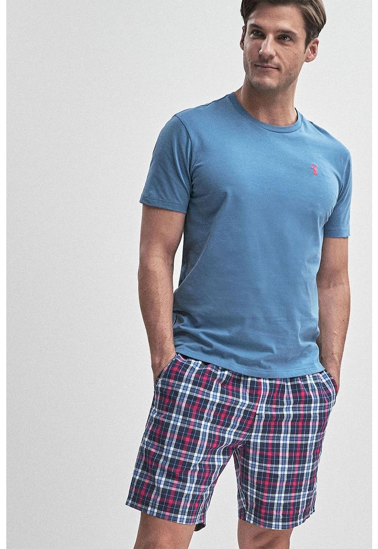 Pijama cu bermude in carouri