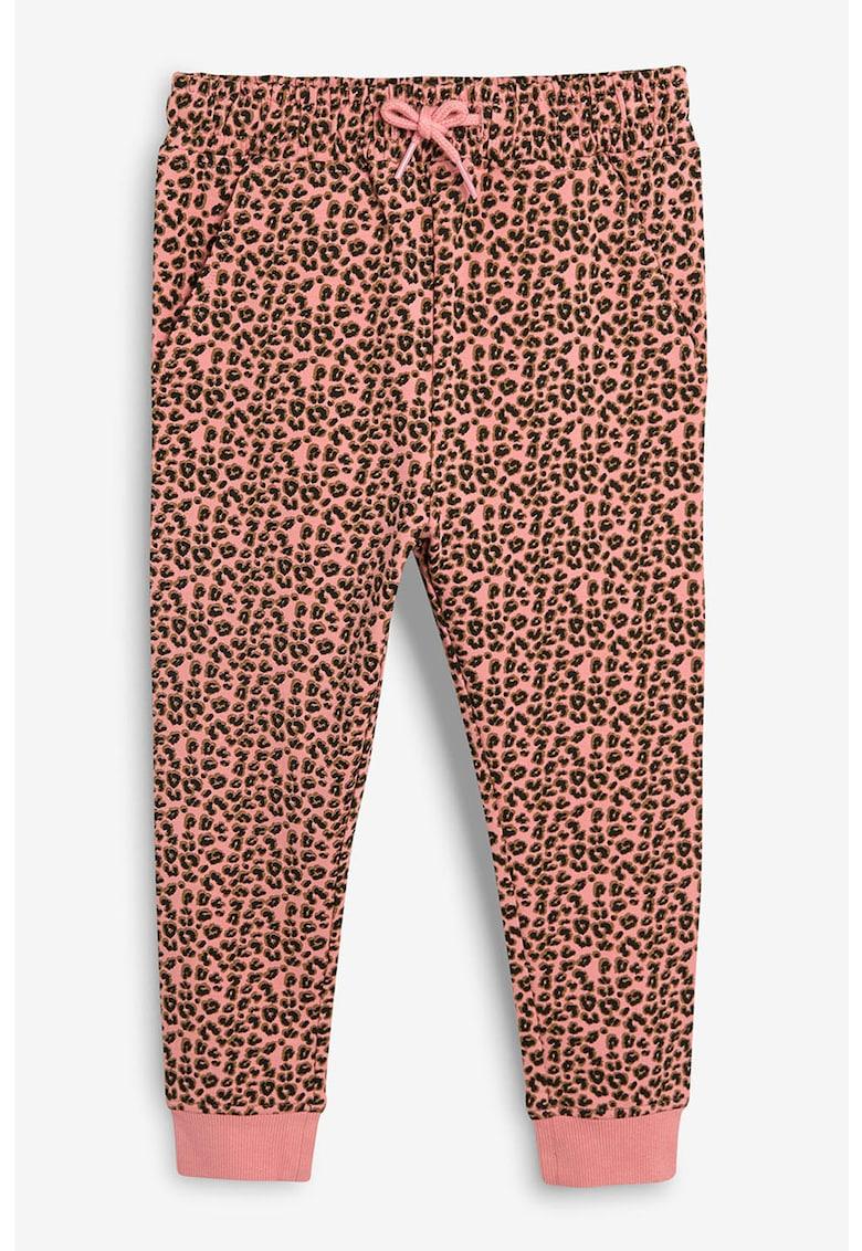Pantalonni jogger cu animal print
