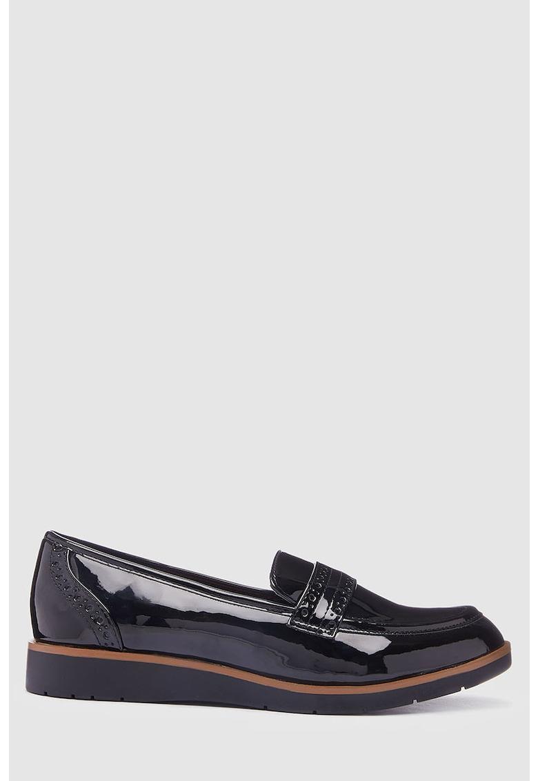 NEXT Pantofi loafer de piele ecologica lacuita