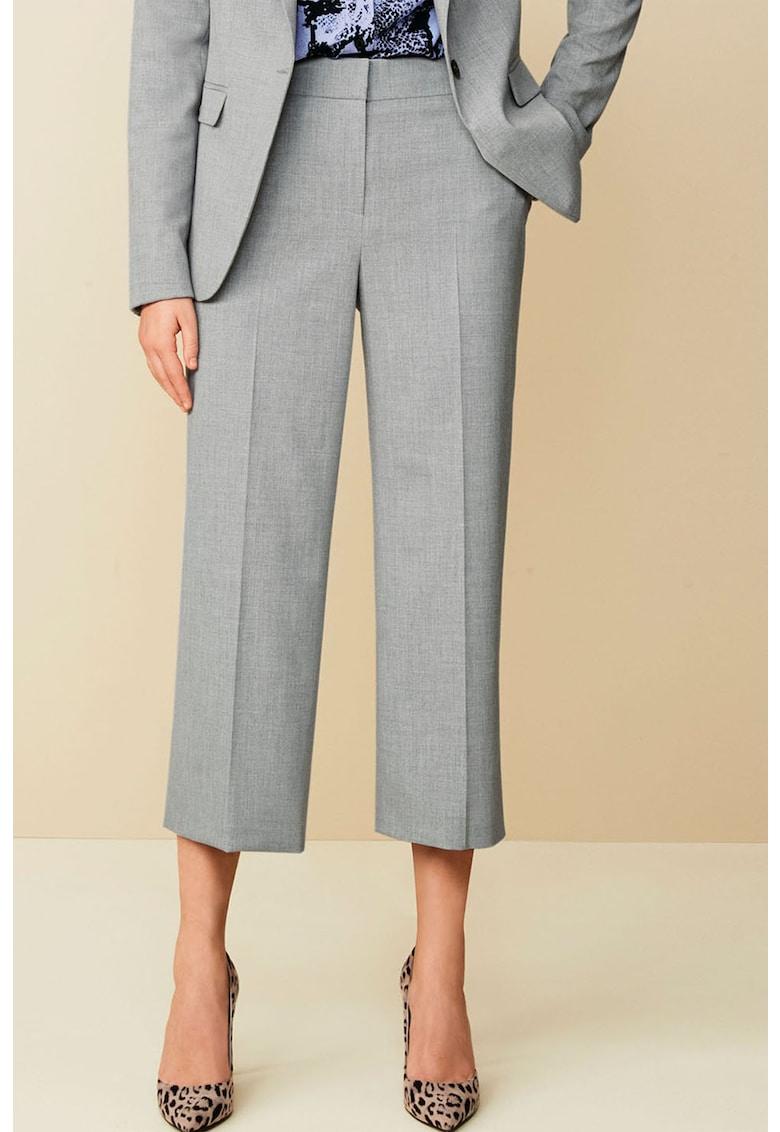Pantaloni culotte cu croiala dreapta si buzunare