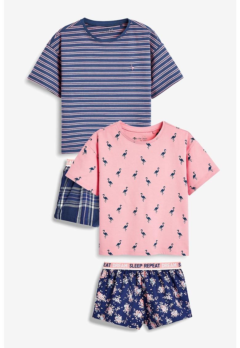 Set de pijamale cu pantaloni scurti - 2 perechi