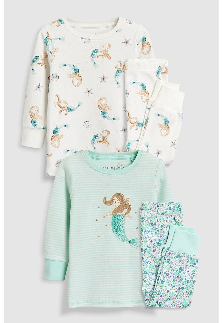 Set de pijama cu model cu sirene