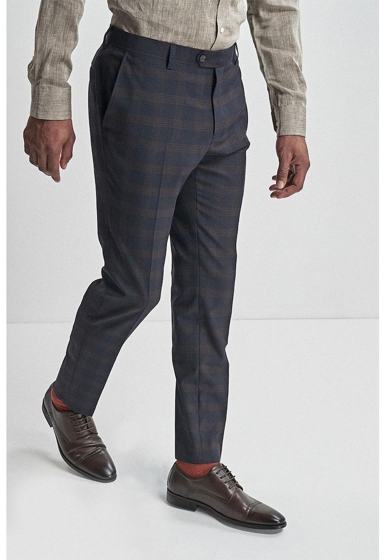 Pantaloni skinny eleganti cu model in carouri NEXT