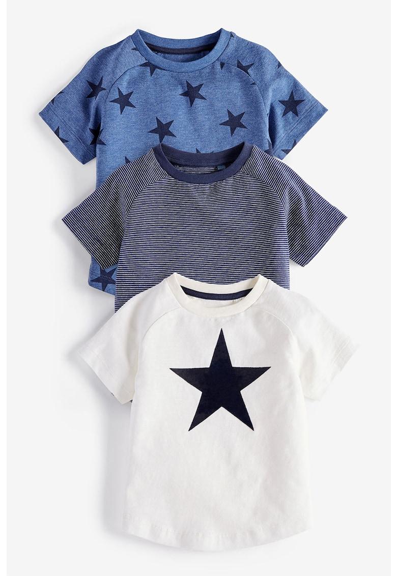 NEXT Set de tricouri cu imprimeu – 3 piese
