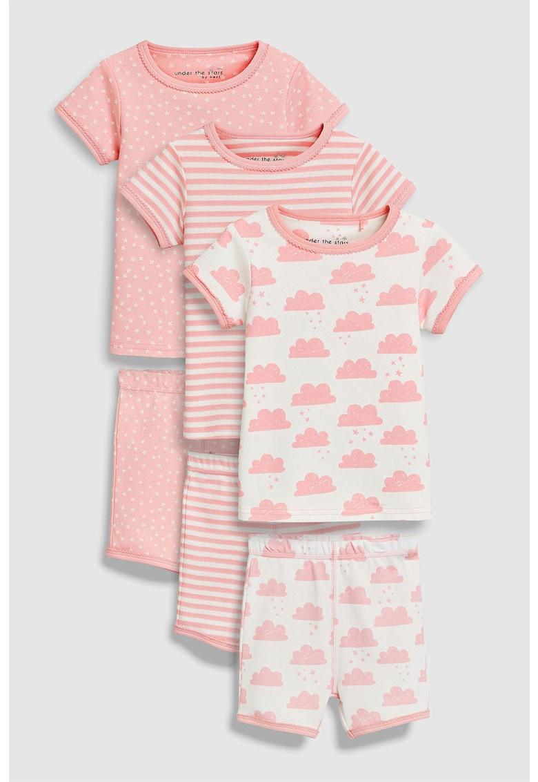 Set de pijamale cu pantaloni scurti – 3 perechi de la NEXT