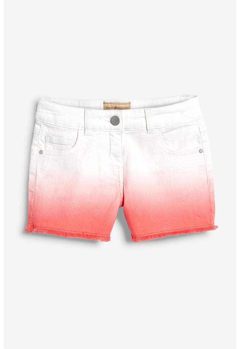 Pantaloni scurti din denim - cu aspect in degrade