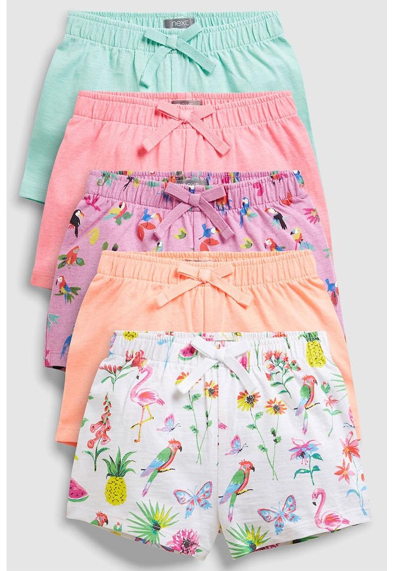 Set de pantaloni scurti cu imprimeu si model uni – 5 piese NEXT