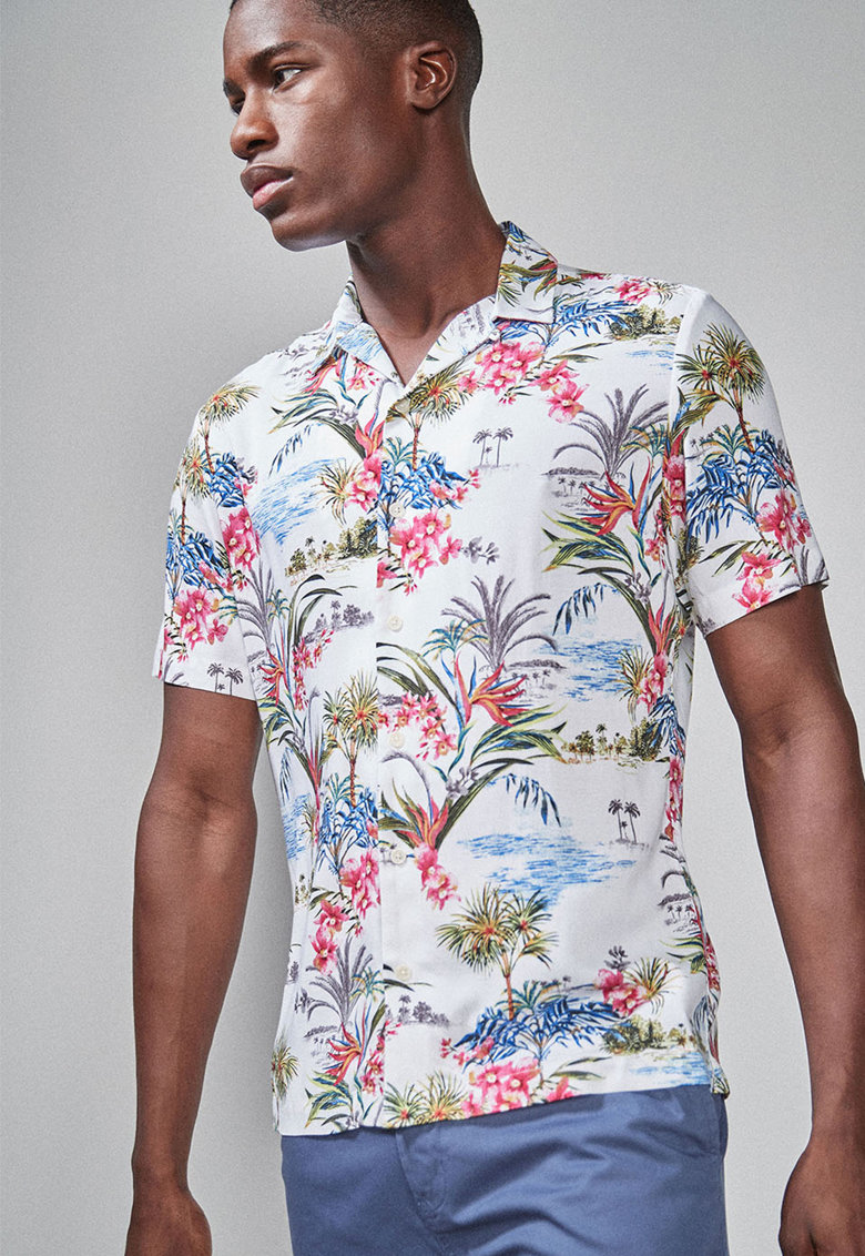 NEXT Camasa slim fit cu imprimeu tropical