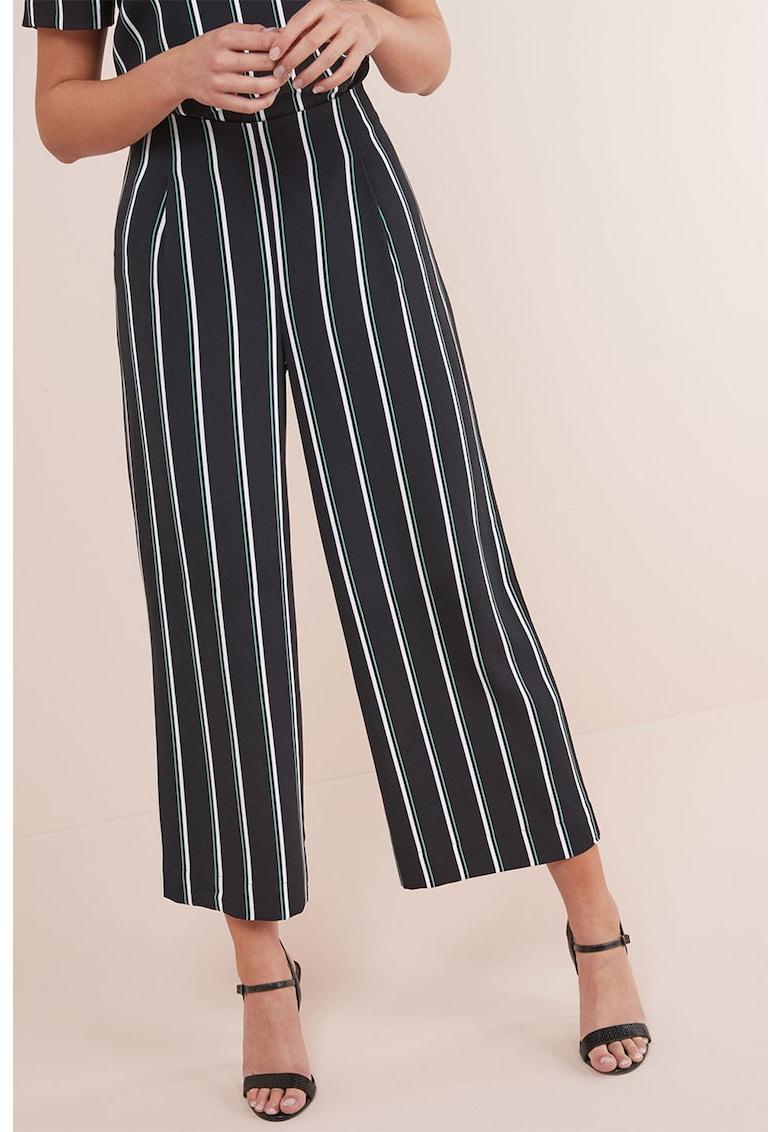 Pantaloni crop cu croiala ampla imagine