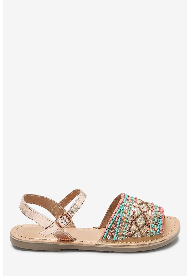 Sandale slingback cu margele NEXT