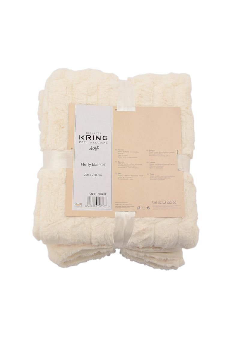 Patura  Soft - Bej - imitatie de blana -