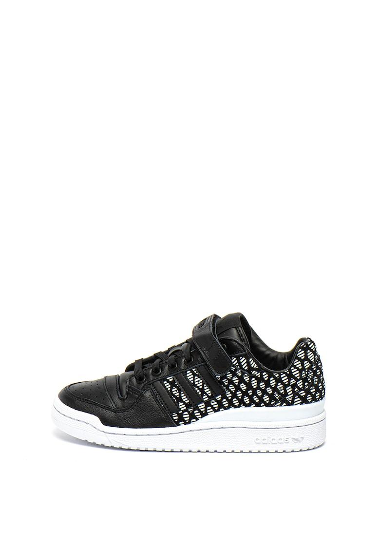 Pantofi sport de piele ecologica cu insertii de piele intoarsa Forum Lo
