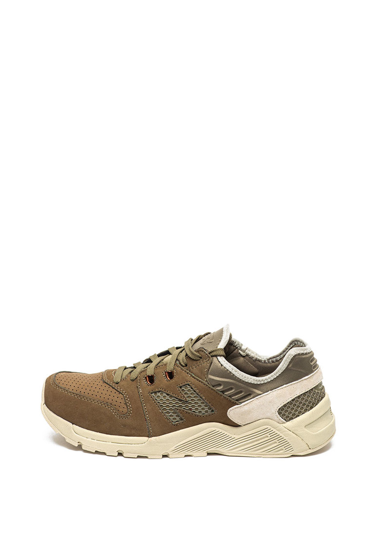 Pantofi sport slip-on cu insertii de piele intoarsa