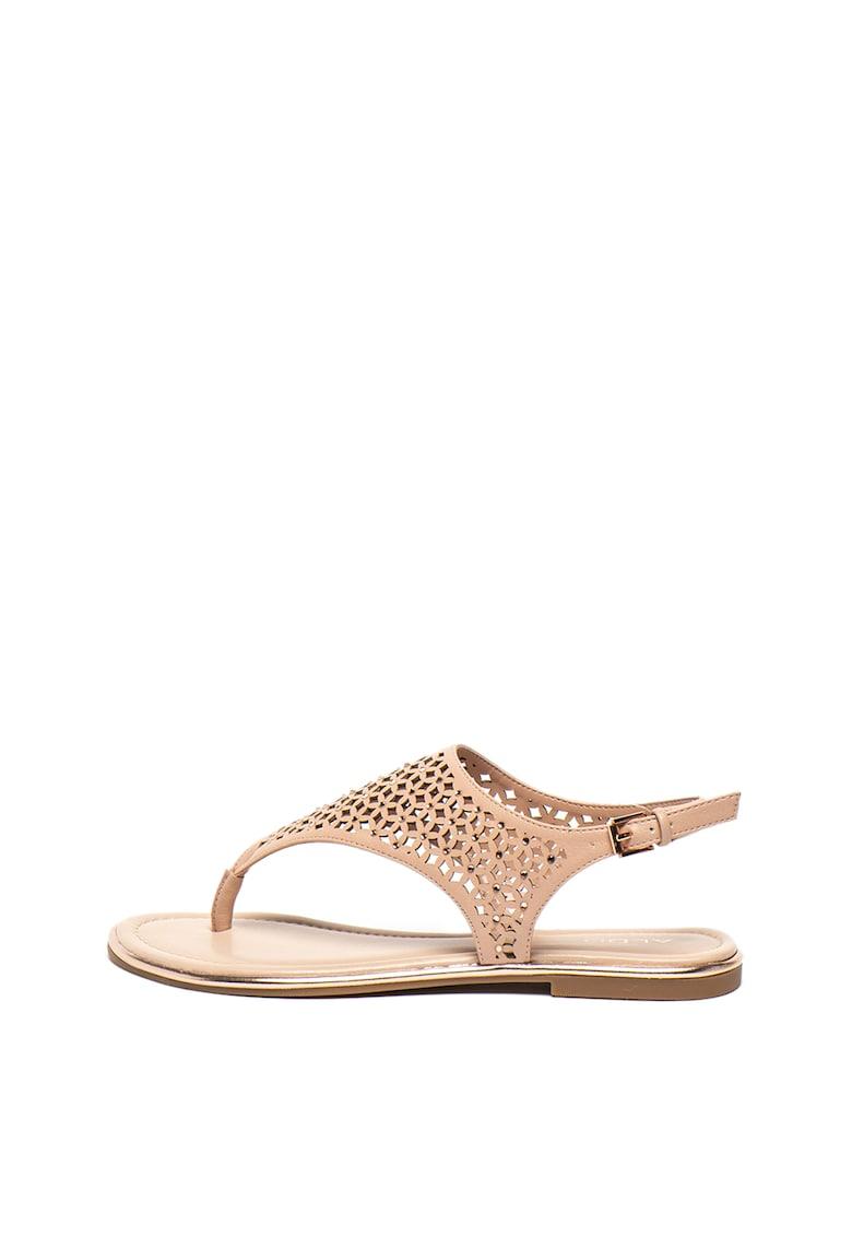 Sandale de piele ecologica - cu bareta separatoare Dwaoviel imagine fashiondays.ro