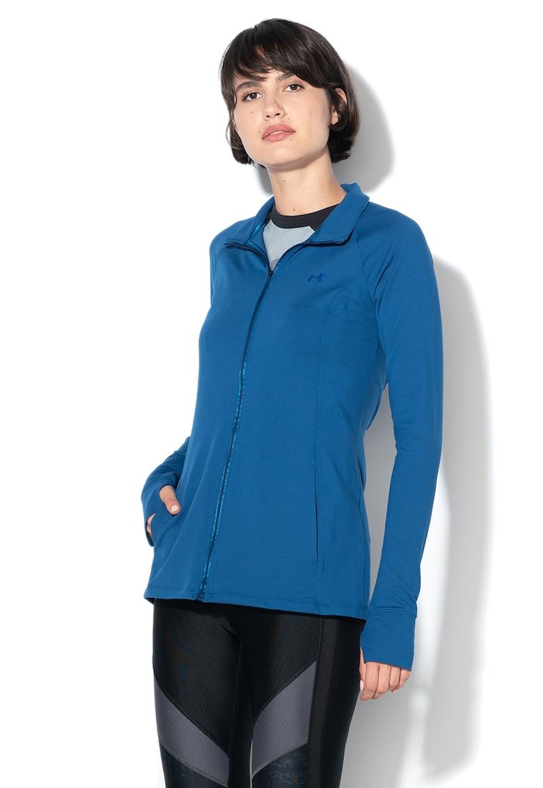 Bluza sport cambrata cu fermoar - pentru fitness Zinger