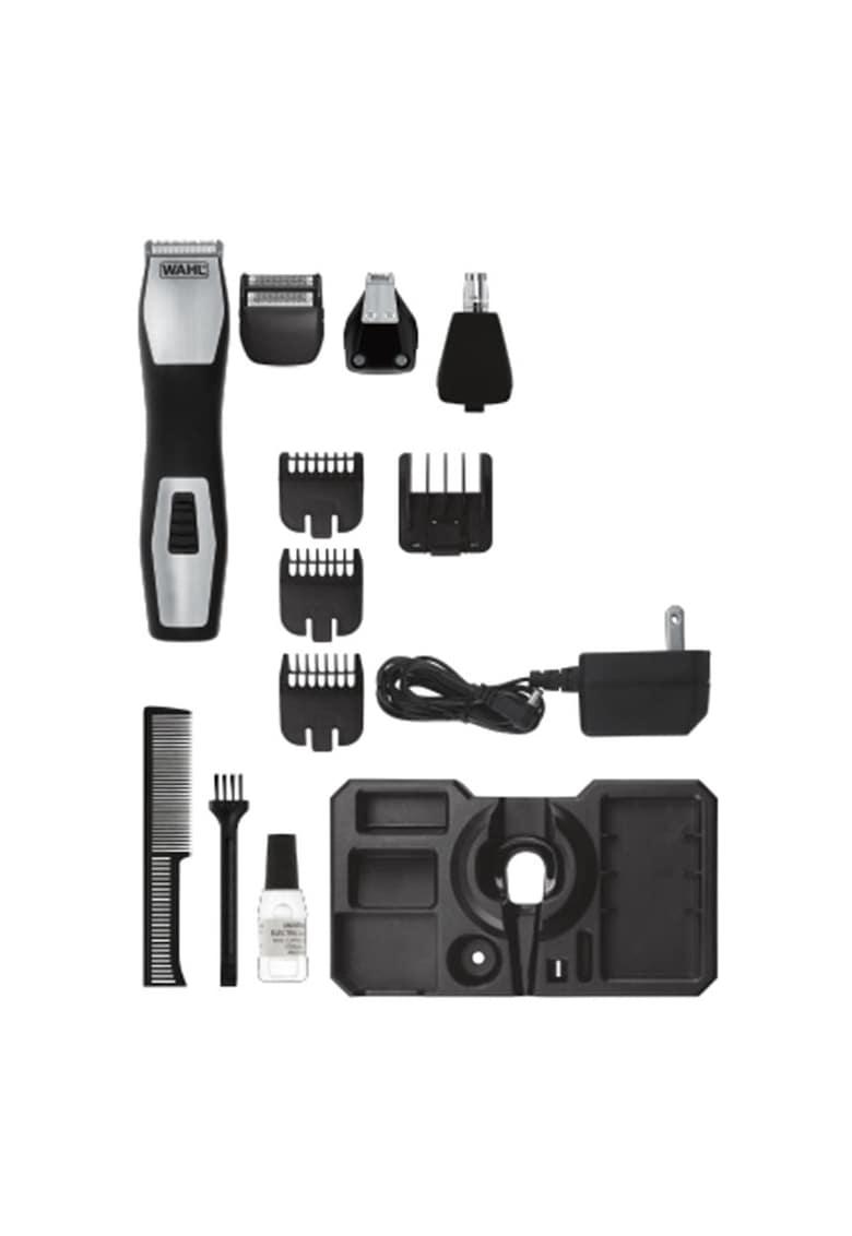 Kit de ingrijire  GroomsmanPro – 3 – 16 mm – 6 Trepte – lame otel – Autoascutire – 3 Accesorii – Negru/Gri de la Wahl