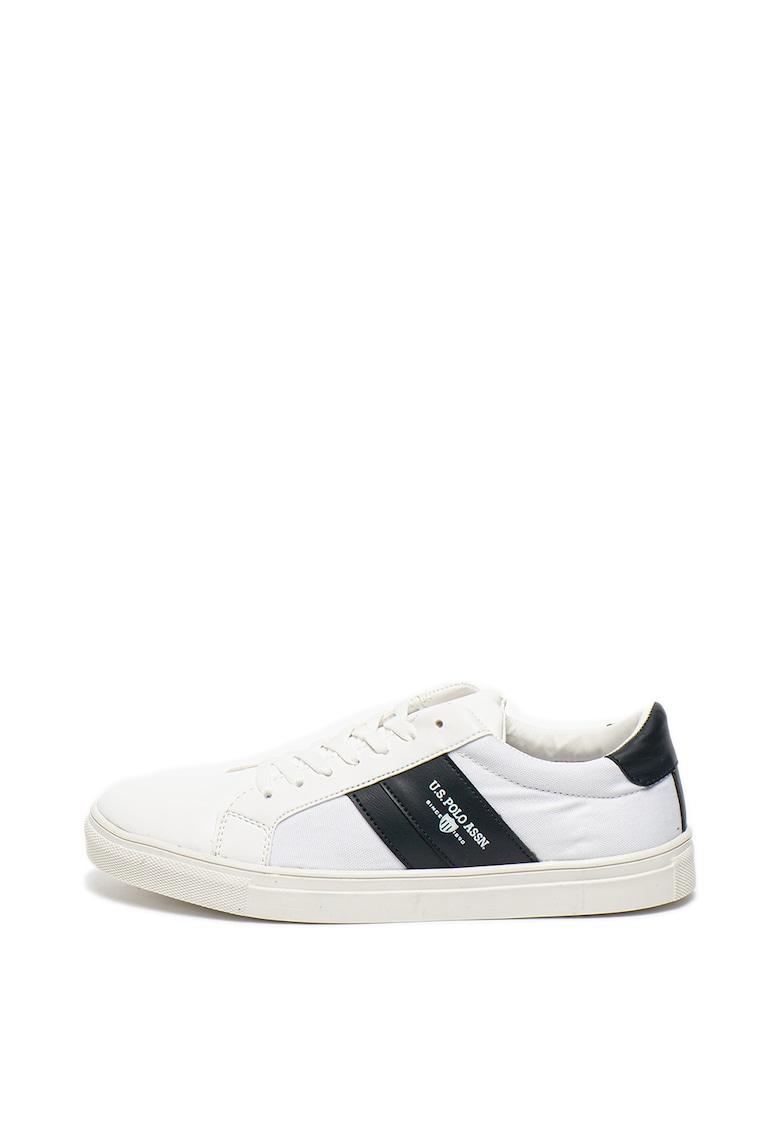 Pantofi sport cu insertii de piele ecologica Anton 1
