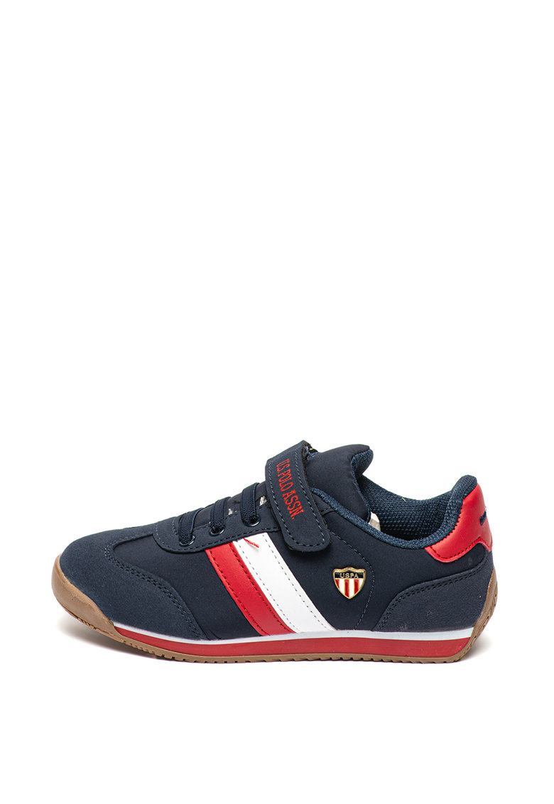 Pantofi sport cu velcro si sireturi elastice Boni de la US Polo Assn
