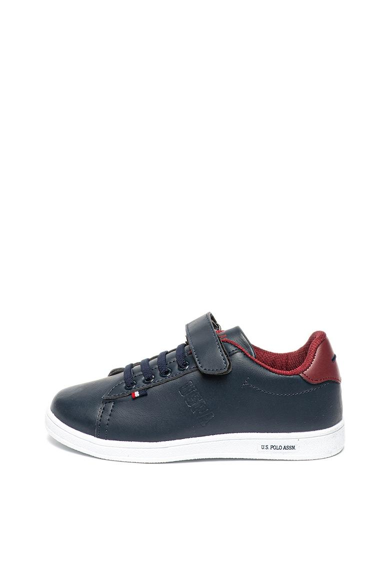 Pantofi sport de piele ecologica - cu velcro Franco