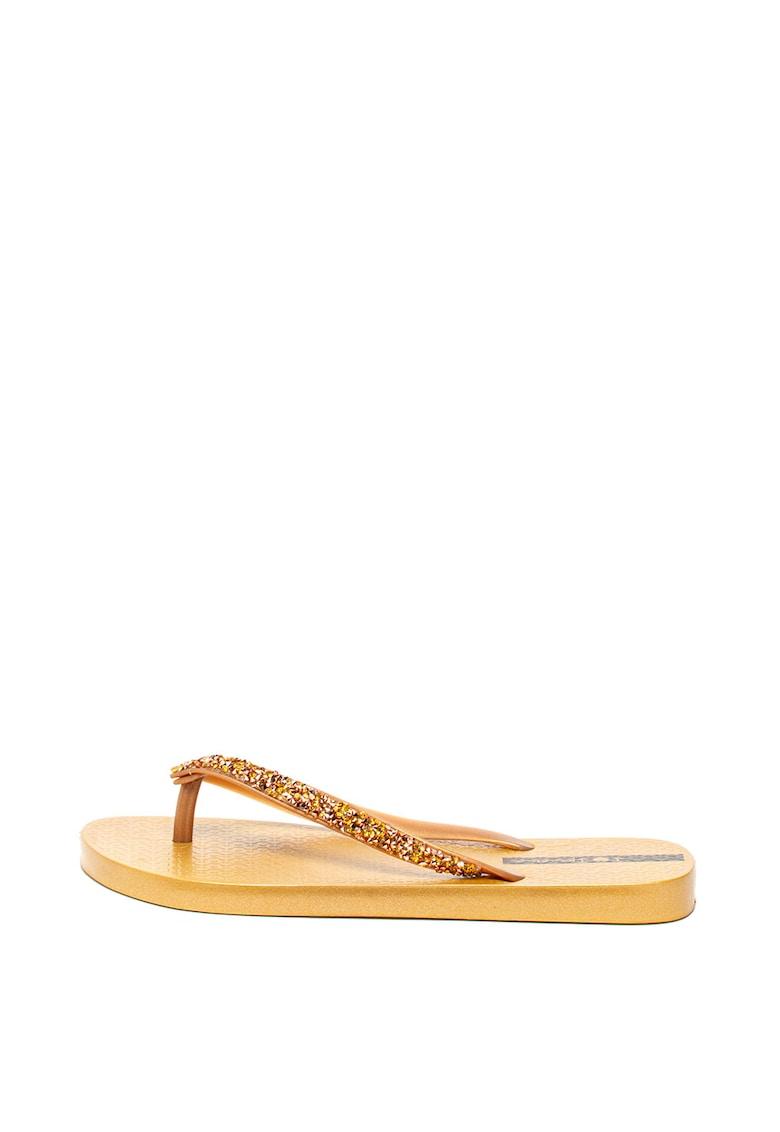 Ipanema Papuci flip-flop cu aplicatii cu strasuri Glam Special