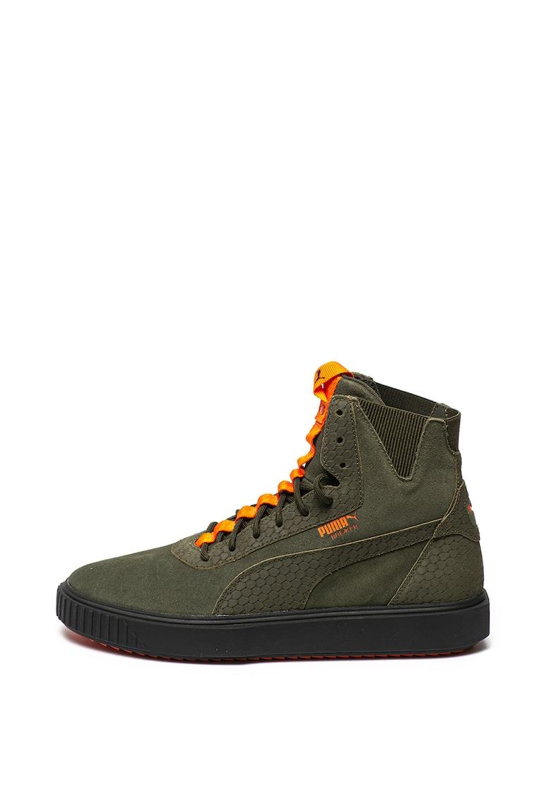 Pantofi sport inalti din piele intoarsa si material textil Breaker