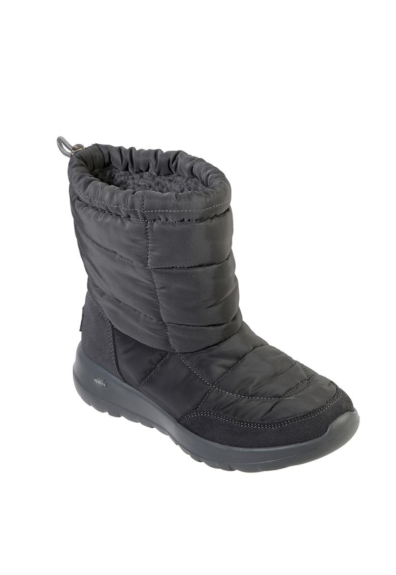 Skechers Cizme de iarna din material textil cu captuseala de blana sintetica On-The-Go-Joy