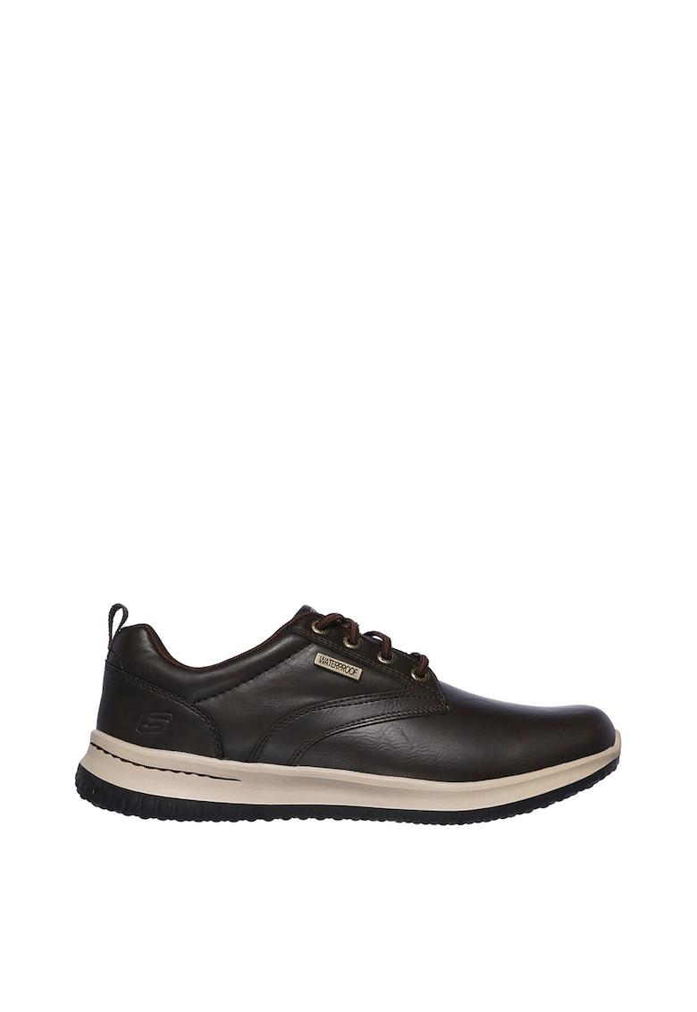 Pantofi impermeabili de piele - cu insertii de piele ecologica Delson