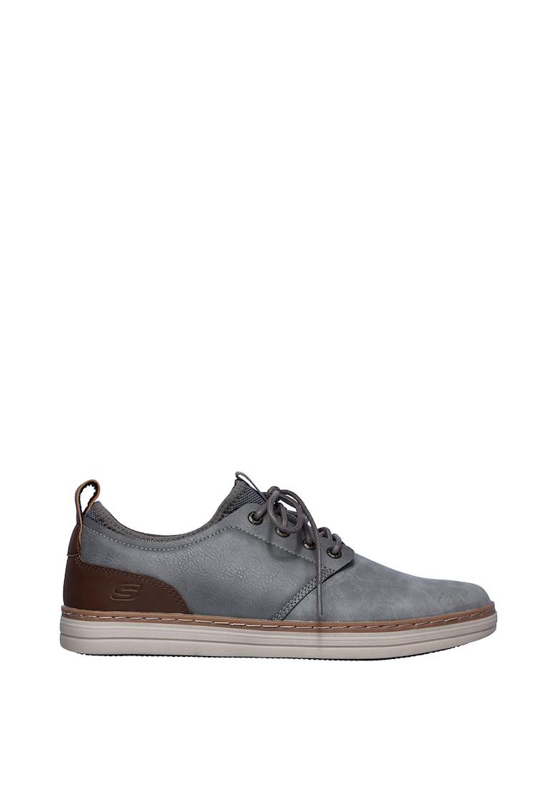 Pantofi casual cu amortizare si garnituri de piele peliculizata Heston-Rogic imagine