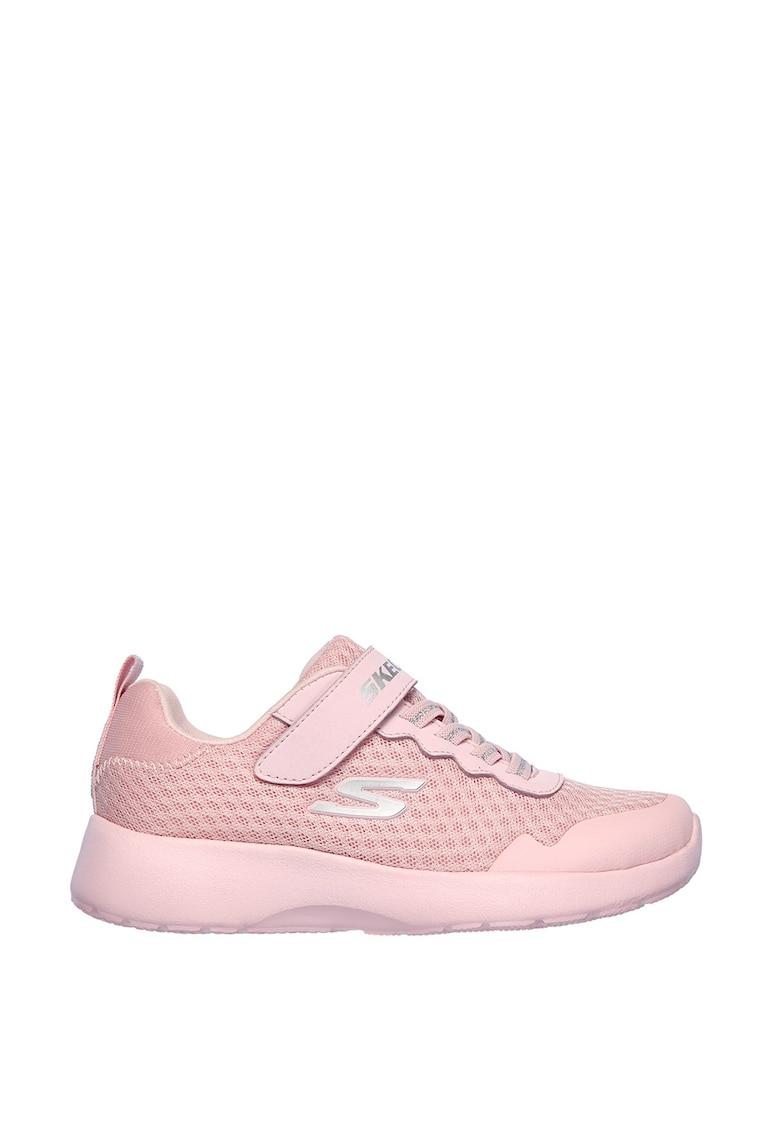 Pantofi sport cu insertii de piele ecologica Dynamight de la Skechers