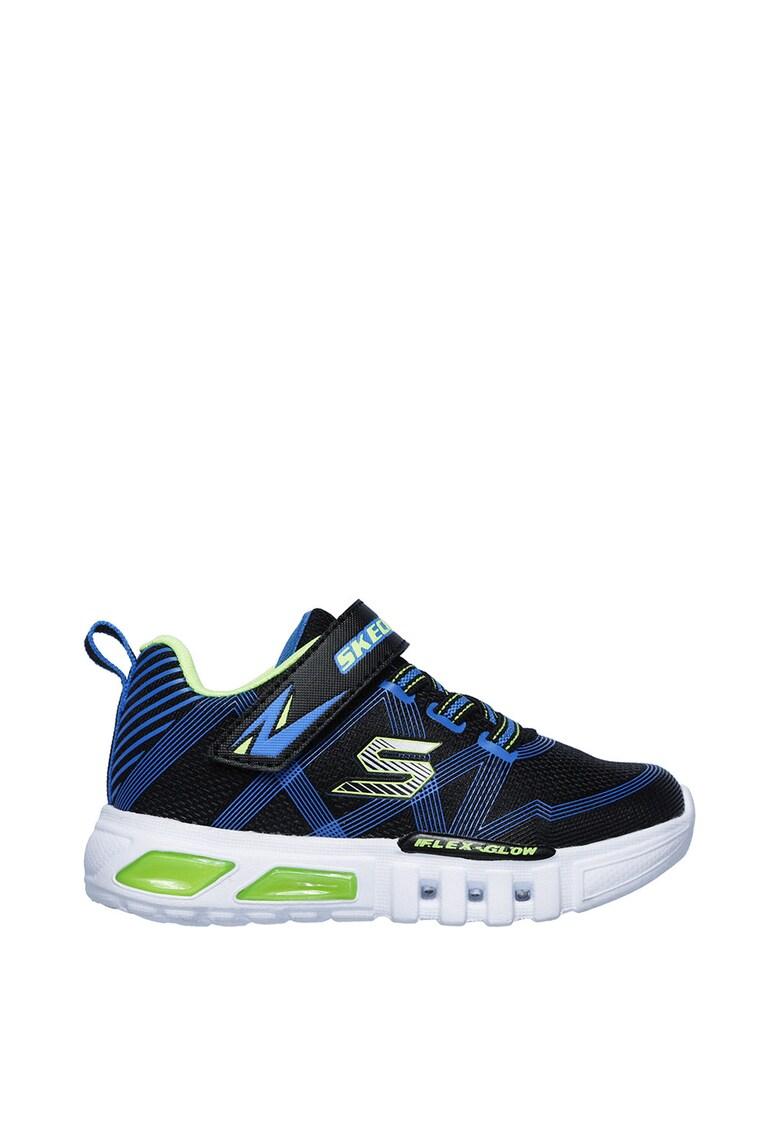 Pantofi sport cu velcro si talpa cu LED-uri Flex-Glow