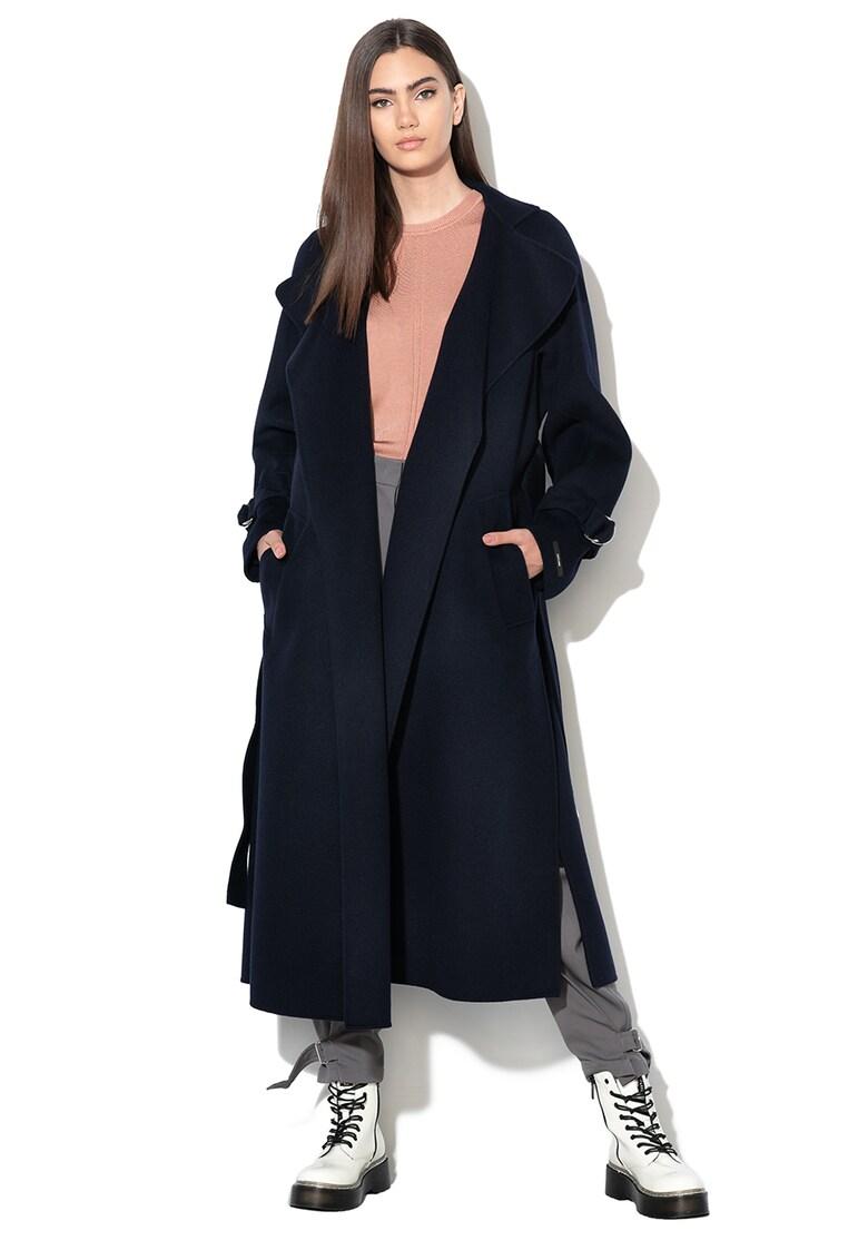 Palton de lana cu o curea Lavoro