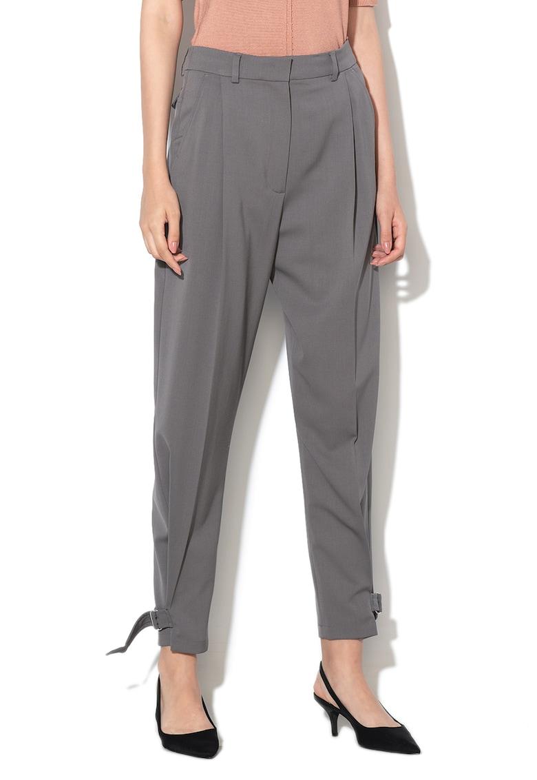 Pantaloni conici din amestec de lana Apogeo imagine fashiondays.ro
