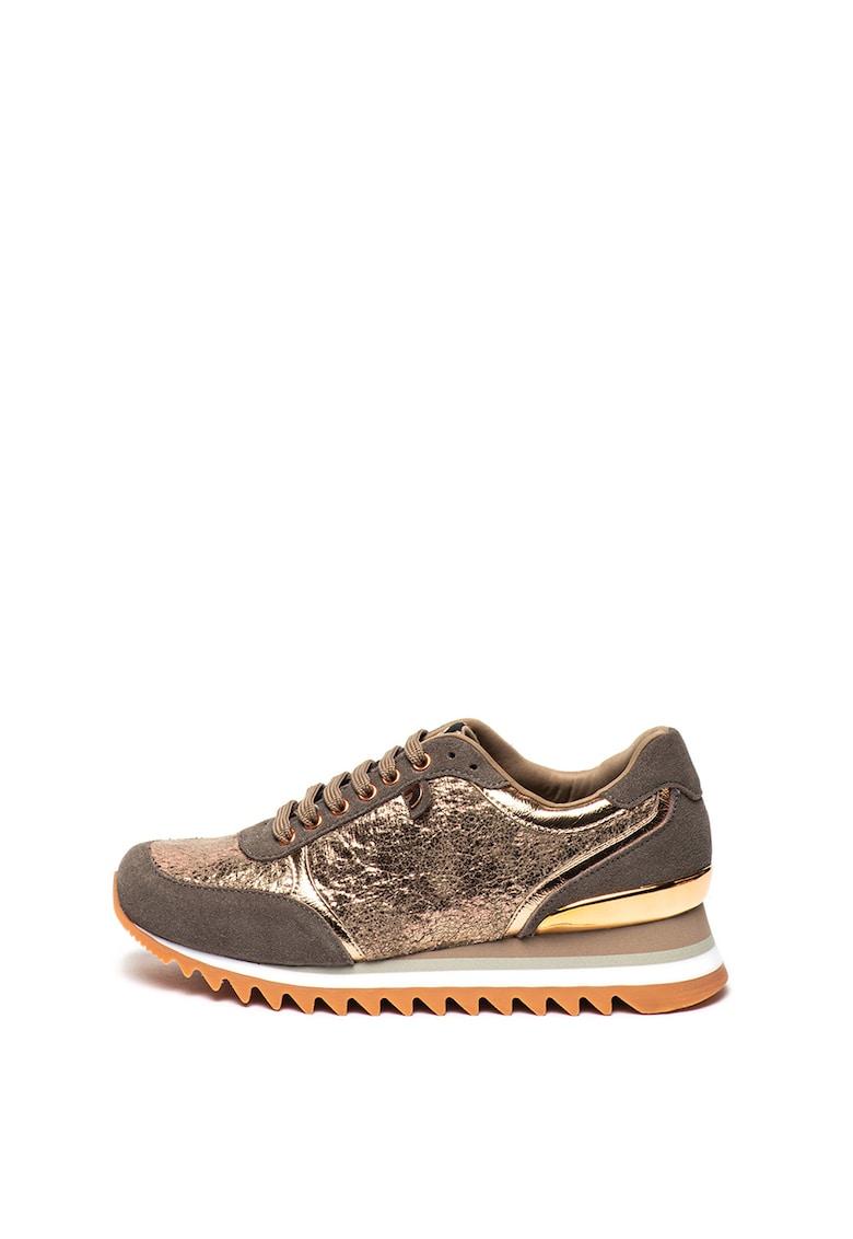 Pantofi sport cu insertii de piele intoarsa Schieren