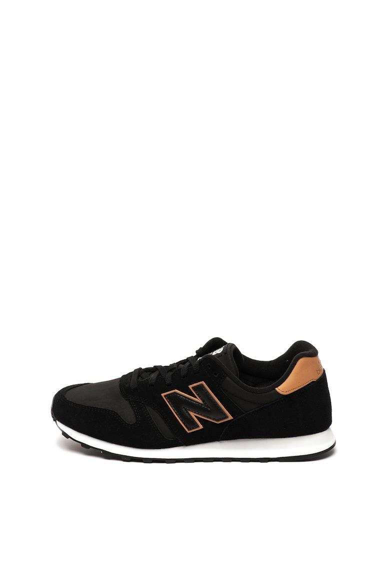Pantofi sport de piele intoarsa - cu garnituri de piele 373