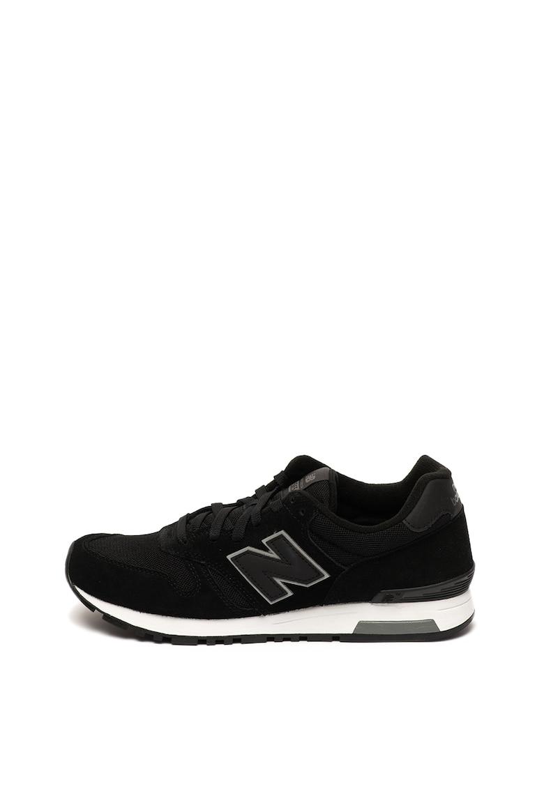 Pantofi sport cu garnituri de piele intoarsa 565