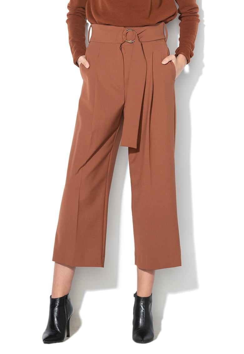 Pantaloni din amestec de lana virgina - cu croiala ampla Birra