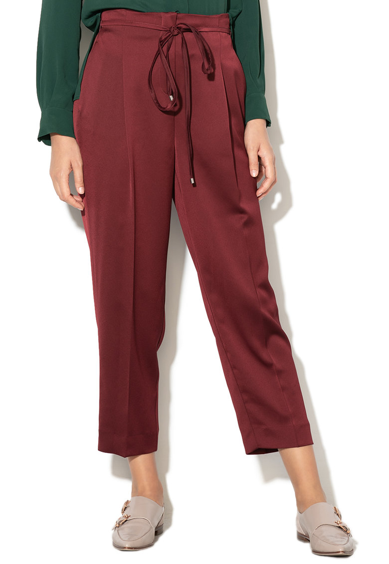 Pantaloni straight fit - cu snur in talie Ondina imagine fashiondays.ro