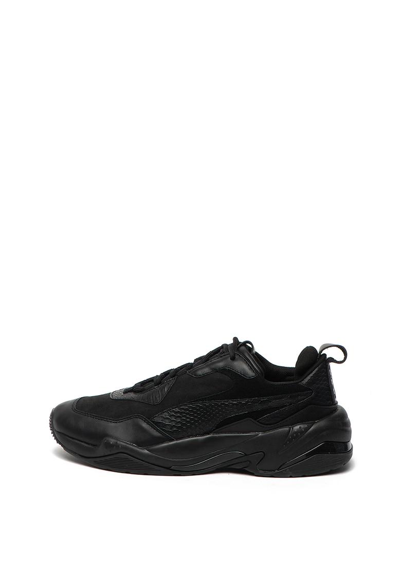 Pantofi sport de piele si material textil Thunder Desert
