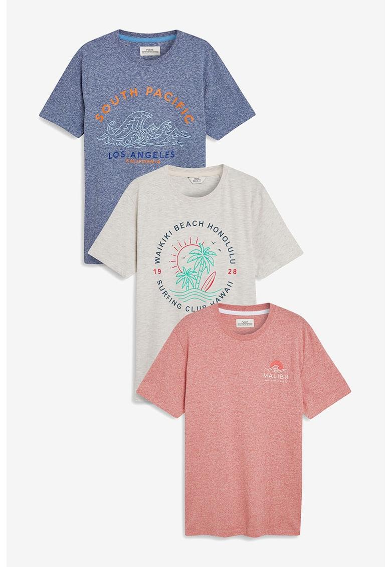 Set de tricouri cu model grafic – 3 piese NEXT