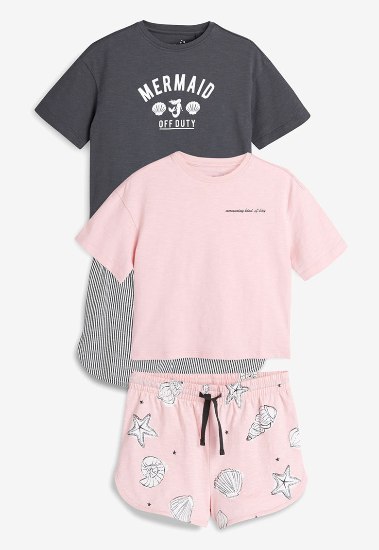 NEXT Set de pijamale cu model grafic – 2 perechi