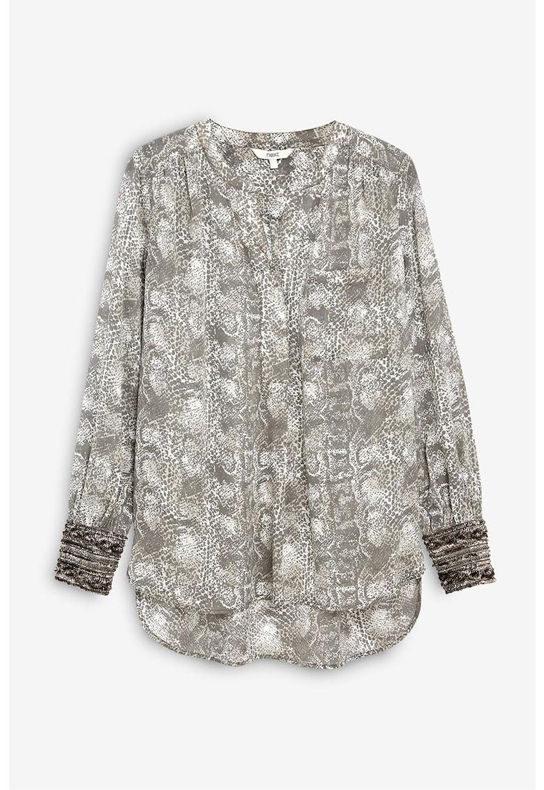 Bluza transparenta cu model reptila