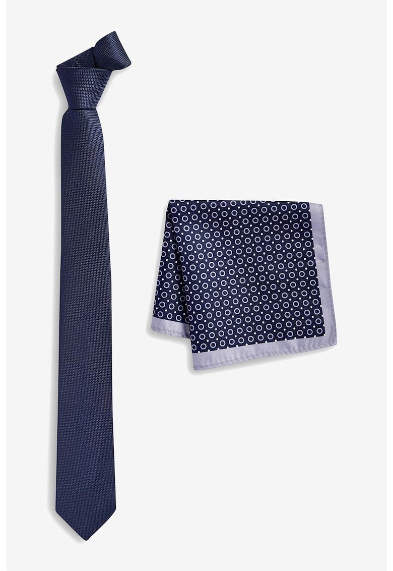 Set de cravata de matase - cu batista decorativa