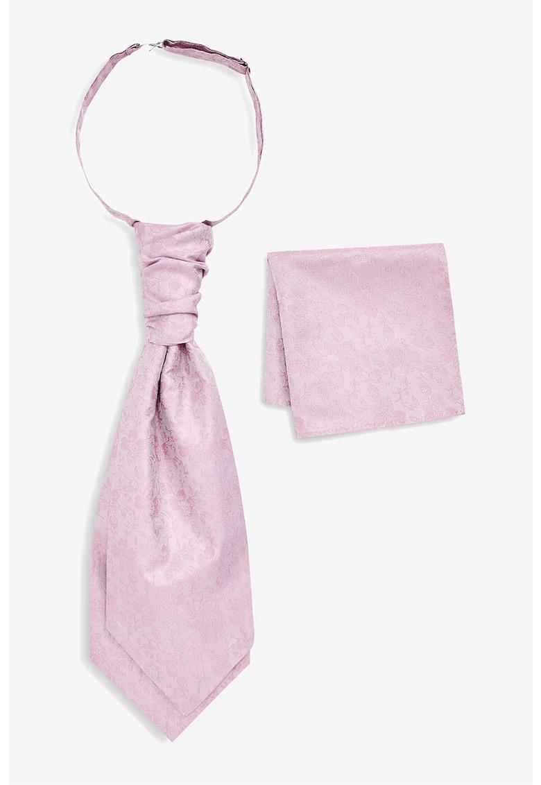 NEXT Set de batista decorativa si cravata de matase