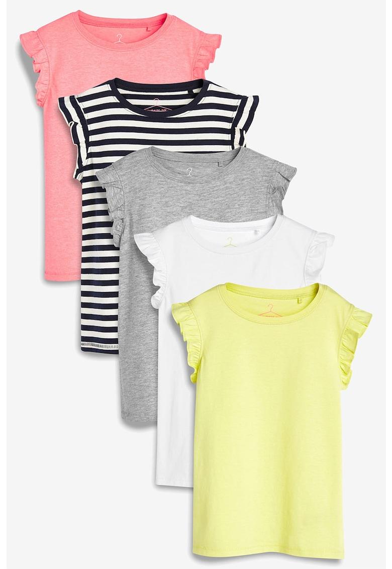 NEXT Set de tricouri cu maneci cu volane- 5 piese