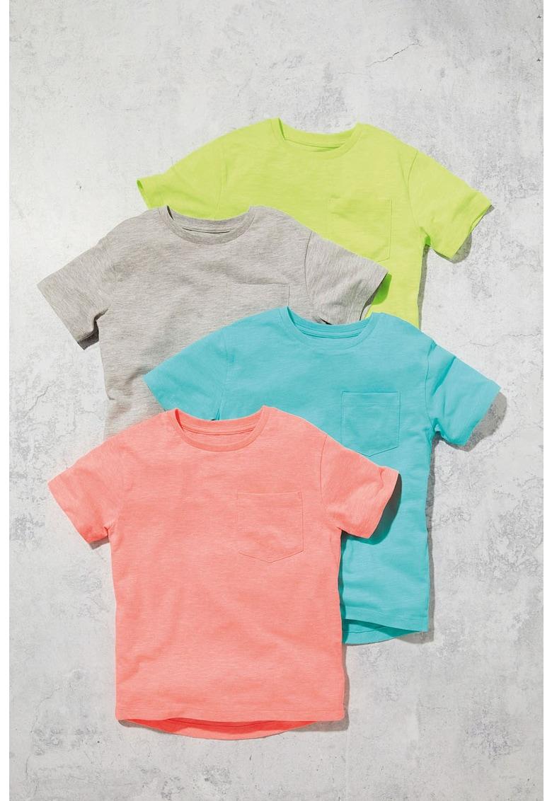 NEXT Set de tricouri cu decolteu la baza gatului – 4 piese