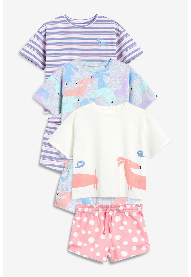 NEXT Set de pijamale scurte – cu diverse imprimeuri – 6 piese