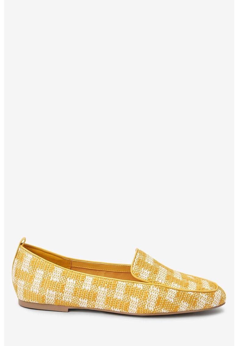 Pantofi loafer in carouri poza fashiondays