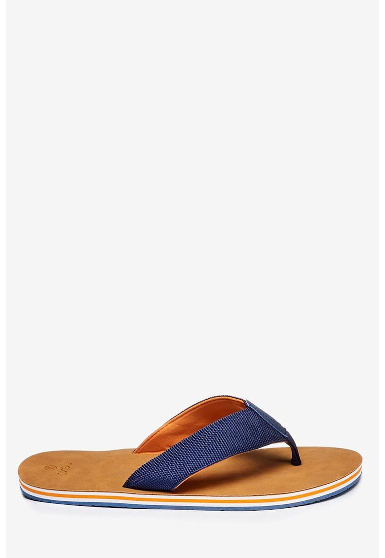 Papuci flip-flop cu talpa in dungi NEXT