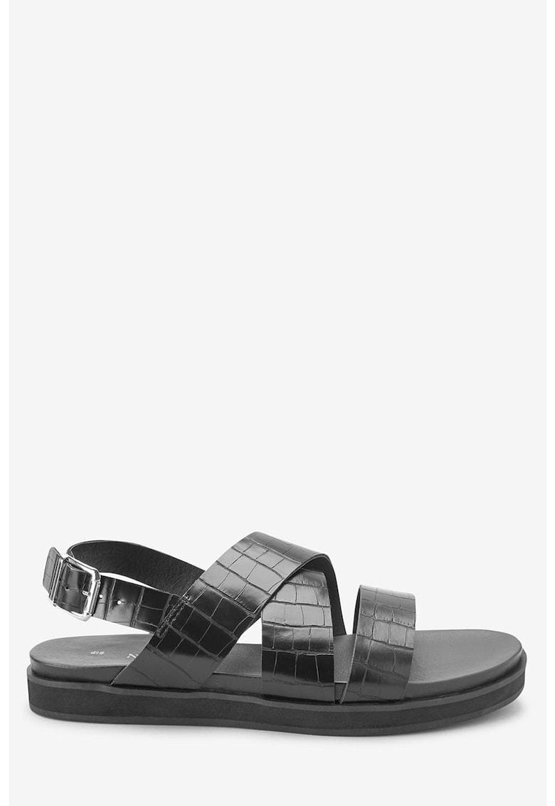 Sandale de piele ecologica – cu barete multiple de la NEXT