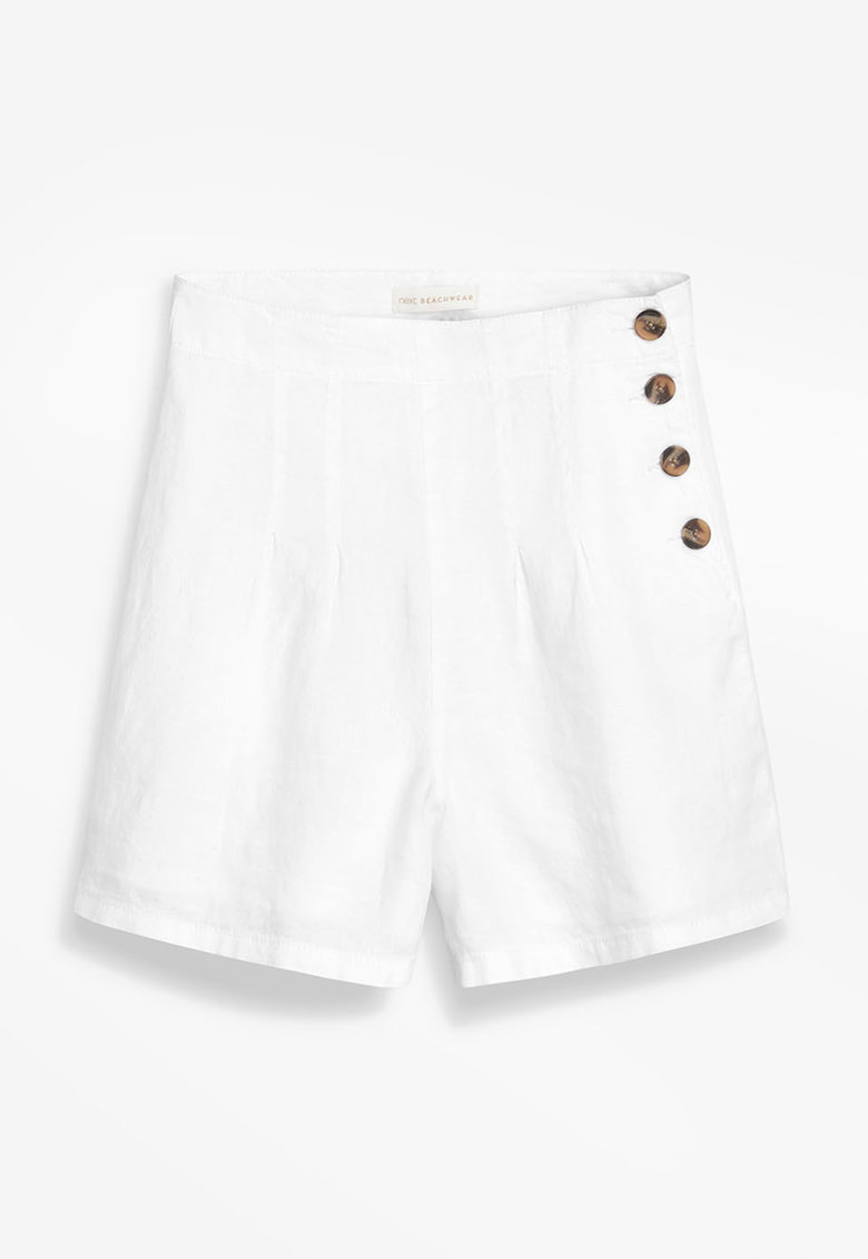 Pantaloni scurti din amestec de in